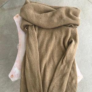 EUC Michael Kors Cowl Neck Tan Sweater